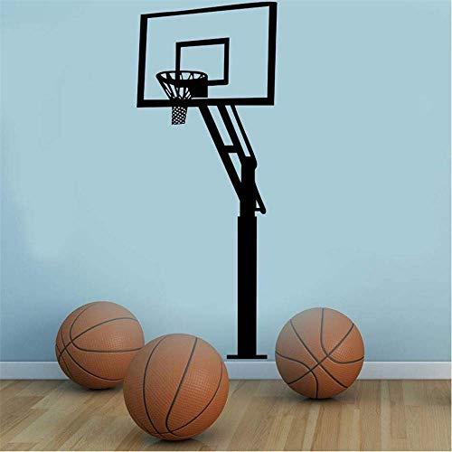 Vinyl Wall Decal Art Sticker Living 3D Basketball Frame Sports Wall Decal Waterproof Football Sticker Children Self-Adhesive Wallpaper Room Home Decoration 42 * 106Cm