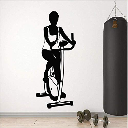 Wall stickers,Exercise Bike Removable Art Decoration for Home Living Room Decal Kitchen Restaurant Pub Wall Decor Mural 57X23Cm