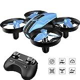 SANROCK U46 Mini Drohne für Kinder und Anfänger, RC Drone, Quadrocopter Mini Helikopter mit Höhehalten, Kopflos Modus, 3D Flips und 3 Geschwindigkeitsmodi, Propeller voll zu...
