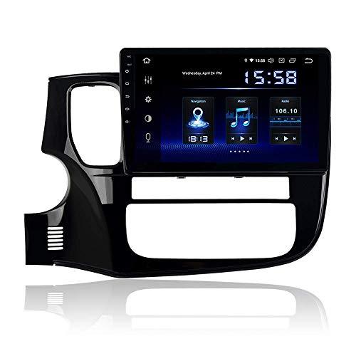 Reproductor multimedia para automóvil de 10.2 'Android 9.0 Estéreo para automóvil con Bluetooth para Mitsubishi Outlander 2014 2015 2016 2017 Pantalla táctil Radio para automóvil Wifi USB Navegación