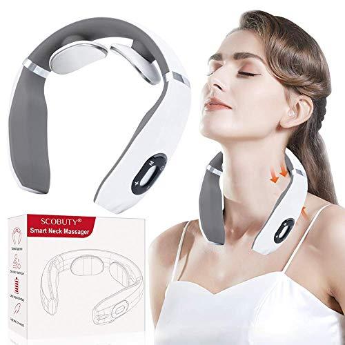Massaggiatore da Collo massaggiante Cervicale, 4D Shiatsu Massaggiatore Elettrico con Calore, Rilessa i Muscoli della Schiena e delle spalle