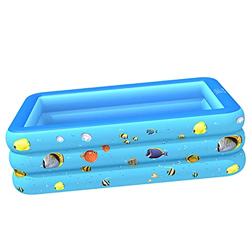 Inflatable Swimming Pool for Kids and Adults Family 59 in X 43 in X 21.7 in The Best Place to Cool Off in The Hot Summer for Family and Friends Blue-A