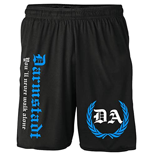 Darmstadt Kranz Shorts | Fussball Sport Ultras Kurze Hose Sporthose (L, Schwarz Kranz M2)
