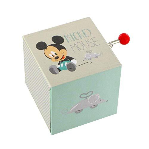 Lutèce Créations Boîte à Musique à manivelle en Bois Mickey Baby avec Mickey bébé de Walt Disney (Réf: 70-200) - Petite Musique de Nuit - Eine Kleine Nachtmusik (W. A. Mozart)