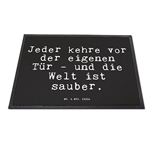 """Fußmatte – Goethe Zitat """"Jeder kehre vor der eigenen Tür """" - 2"""