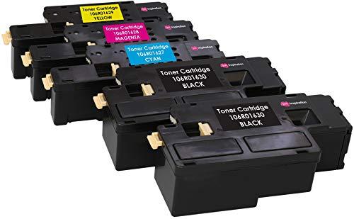 Kit 5 Toner Compatibili per Xerox Phaser 6000, 6010, 6010V, 6010V N, 6010N, WorkCentre 6015, 6015V, 6015V B, 6015V N, 6015V NI, 6015MFP | Nero: 2.000 Pagine & Ciano/Magenta/Giallo: 1.000 Pagine