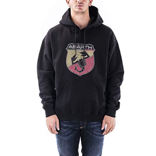 Iuter - Felpa Cappuccio Logo Abarth con Borchie - (COLLABORAZIONE) - Black - (M)