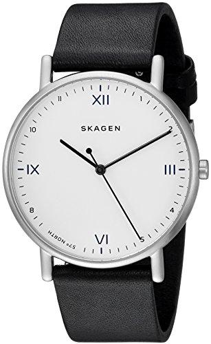 Skagen Herren Analog Quarz Uhr mit Leder Armband SKW6412