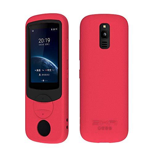 SIKAI Silicone Case for iFLYTEK Translator 3.0 Shockproof Portable Protective Cover for iFLYTEK Translator (Red+Black)