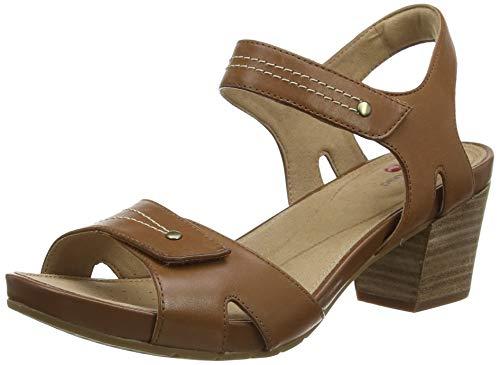 Clarks Un Palma Vibe, Sandalias de Talón Abierto Mujer, Marrón (Mahogany Leather Mahogany Leather), 39 EU