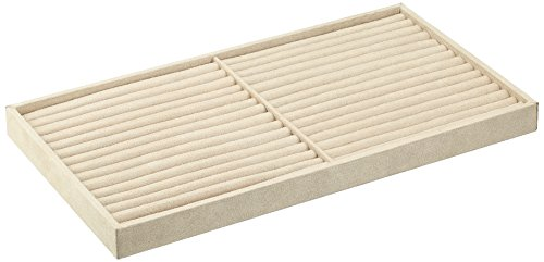 Wolf Designs 435870 Vault Series Ring Tray Insert, Beige