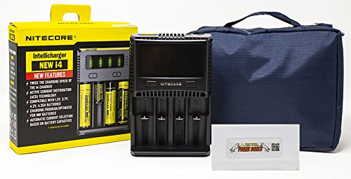 Best Nitecore New I4 Charger with Battery case and Travel Bag