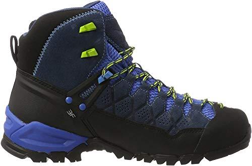 Salewa Ms Alp Trainer Mid Gtx, Herren Trekking- & Wanderstiefel, Blau (Dark Denim / Cactus 0361), 46.5 EU
