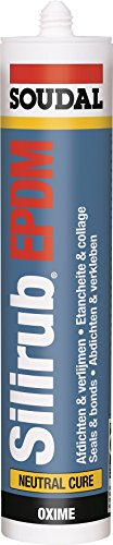 Soudal Silirub EPDM Folienkleber 310ml Kartusche - hochwertiger, neutralvernetzender 1K Fugendichtstoff auf Silikon Basis, dauerleastisch, witterungsbeständig, farbecht,
