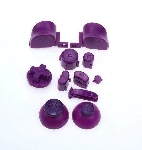 Boutons 11 en 1 pour NGC Gamecube ABXYZ - Boutons analogiques - Boutons Claviers - D-Pad Triggers Mod - Violet