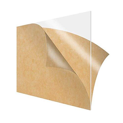 Wzqwzj Acrylic Sheet Transparente Plexiglasplatte, Plastikblatt mit schützendem Papier, Stärke: 8mm,Size:100x250mm