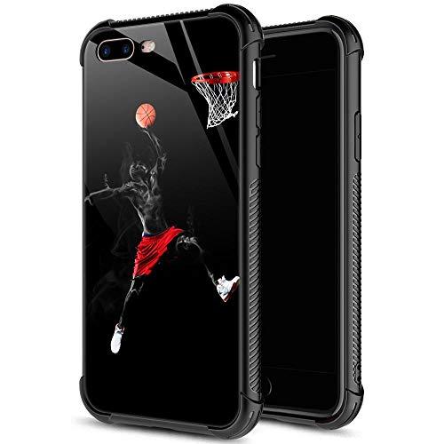 iPhone SE 2020 Hülle, gehärtetes Glas, iPhone 8 Hülle für Männer und Jungen, Cool Dunk Basketball iPhone 7 Hüllen, stoßfest, kratzfest, Schutzhülle für Apple iPhone 7/8/SE2 11,9 cm Dunk