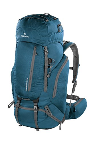 Ferrino Rambler, Zaino da Hiking Unisex, Blu, 75 Litri