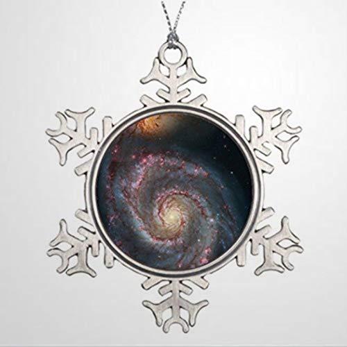 BYRON HOYLE Sapins de Noël décorés astronomie whirlpool galaxie ornement de Noël flocons de neige ornements de Noël décoration de mariage ornement cadeau de vacances
