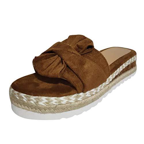 Bluestercool Femme Compensees Sandales Femmes Chaussures De Plage Mules Pantoufles Eté Mode Plateforme Chaussons De Fond Épais Roma Bout Ouvert Flip Flops Espadrille