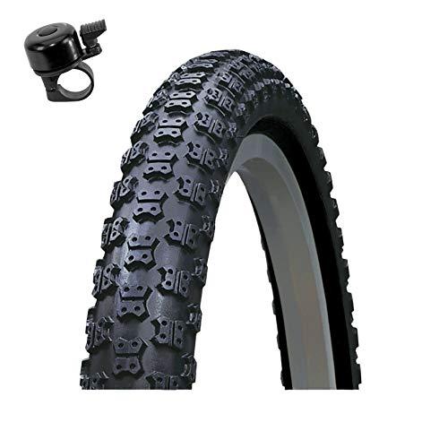 Roverstone 54-406 - Cubierta para bicicleta (20 x 2,125, incluye 1 timbre), color negro