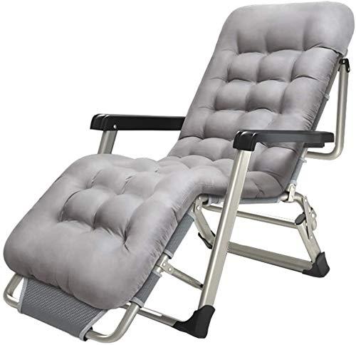 Liegestuhl klappbar Relaxliege garten Sonnenstuhl Patio Liegestühle - Sonnenliege Gartenstuhl Relaxer Stuhl Liegestuhl für Kinder Klappstühle Campingliege mit Kissen für Strand Terrasse Camping - Grau