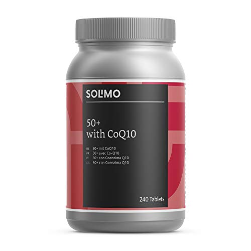 Amazon Brand - Solimo 50+ Multivitamins and Minerals with Co-Enzyme Q10 Food Supplement, 240 Tablets