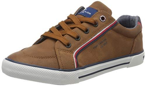 TOM TAILOR Jungen 8072903 Sneaker, Braun (Cognac 00205), 38 EU