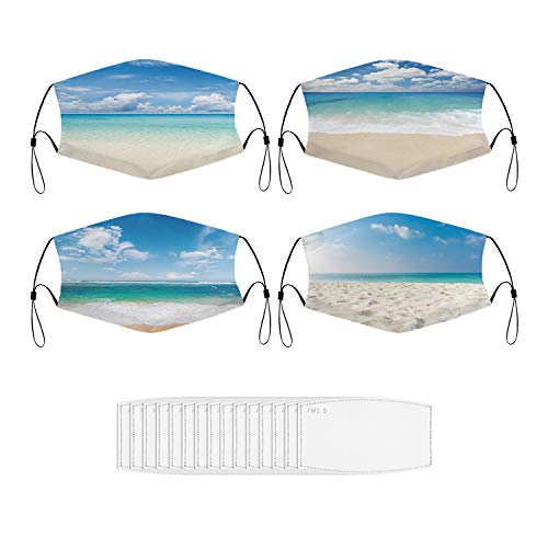 Mouth Dust Mask Beach and Tropical Sea Face Mask for Men & Women