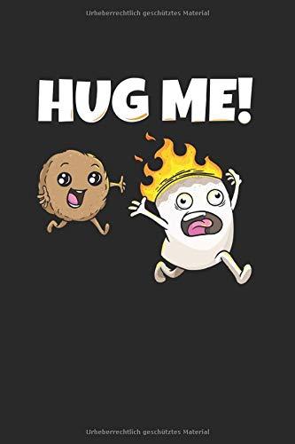 Hug me Marshmallow Keks Notizbuch: Marshmallow Notizheft A5 blanko Malbuch Notizblock für Kinder Journal Skizzenbuch Geschenk für Camper Heft Zeichenbuch