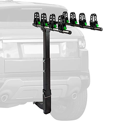 STEGODON 4 Bike Hitch Rack 2'' Hitch Receiver Heavy Duty Bicycle Carrier Racks Hitch Mount Double Foldable Rack for Cars, Trucks, SUV,Hatchback RV,Tow Hitch and Minivans
