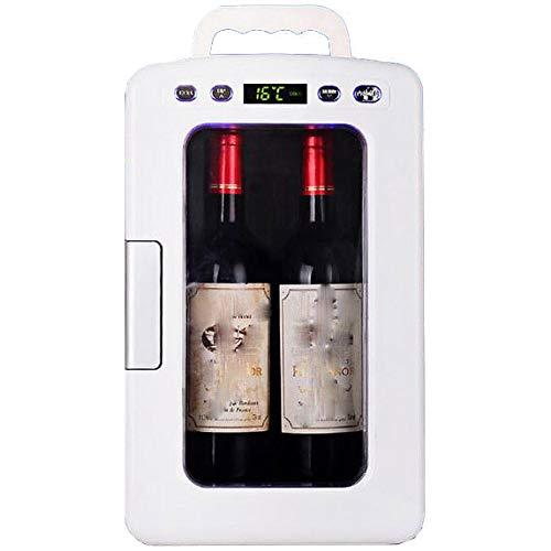 Lieling Retro Mini-koelkast, draagbaar, stil, koud en warm, led-digitale weergave, bar, koelkast, 12 V, 220 V, voor auto's, thuis, office