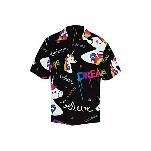 INTERESTPRINT Men's Unicorns Dreams Tees Tops T-Shirts 3