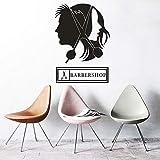 Wandaufkleber Haarschneider Schere Friseursalon Logo Fenster Vinyl Aufkleber Haar Design...