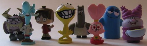 Fosters and Chowder Tiny 1/2 Inch Very Small Figure Capsule Toys Set of 8 by Fosters and Chowder - Capsule Toys
