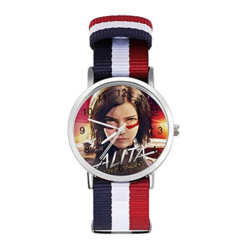 Alita Battle Angel Erwachsenen-Freizeituhr, modisch, schön und personalisierbar, Legierungsgehäuse, lässige Sport-Armbanduhr für Männer und Frauen