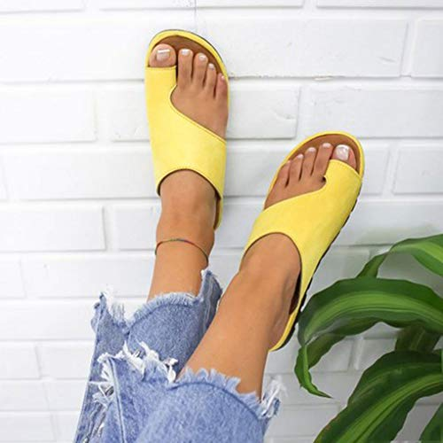 WSXZ Plataforma Sandalia,Zapatillas De Playa De Verano,Corrector De Juanetes Ortopédico para Mujeres Zapatos Ortopédicos Corrector De Juanetes Mujer Sandalia