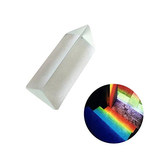 UEETEK Kristall optischen Glas dreieckigen Prisma für Unterricht in Physik Lichtspektrum 3 x 3 x 3 x 6 cm