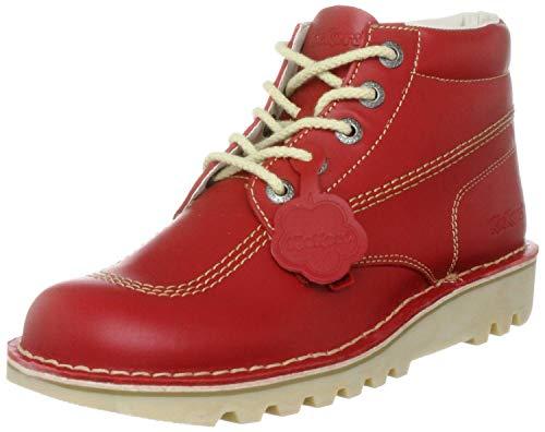 Kickers Kick Hi\', Botines Mujer, Rojo (Red/Light Cream), 40 EU