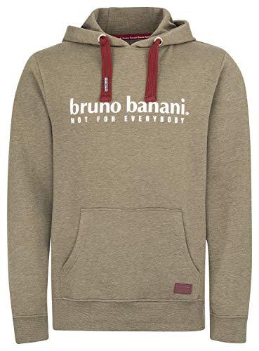 bruno banani Hoodie/Kapuzenpullover für Herren, Oliv meliert, Größe M