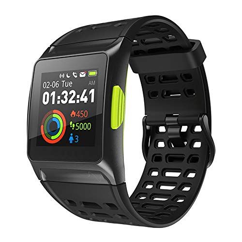 Waterdichte Smart Watch, ECG GPS Fitness Smartwatch Met Hartslagmeter Sleep Monitor Ondersteuning Informatie Notification Wekker