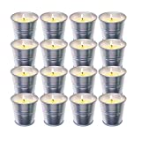 16 Packs Velas Citronela Set Regalo, Cera de Soja Set de regalo de velas aromáticas 100% naturales, Velas Citronela Exterior Interior para jardín, Camping, Viajes, Regalos