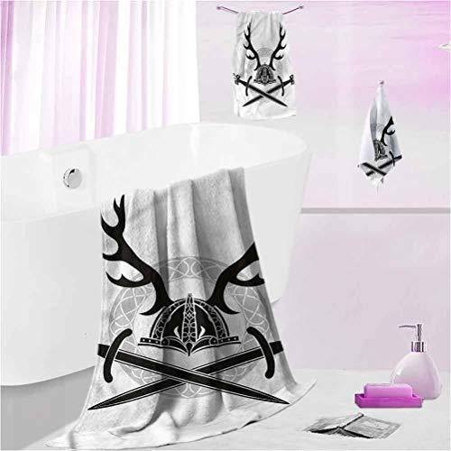 DayDayFun Beach Towel Antler Bathroom Set - Ultra Soft Bathroom Towels Set Viking Culture Celtic Circle S - Contain 1 Bath Towel 1 Hand Towel 1 Washcloth