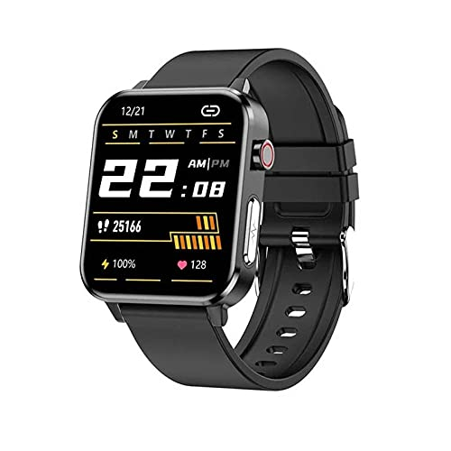 Smart Watch Body Temperature Blood Pressure Heart Rate Sleep Health Monitoring Stepper Road in Sports Bracelet-Black