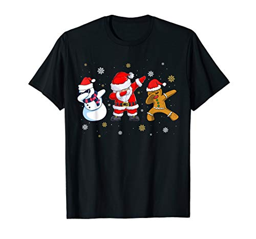 Dabbing Christmas Ugly Xmas Sweater Santa Dab Squad Kids Boy T-Shirt