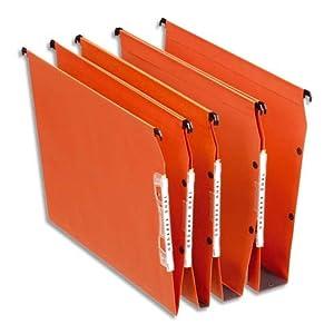 Esselte Group 21628 – Carpetas colgantes (25 unidades, lomo 15 mm para armario), color naranja