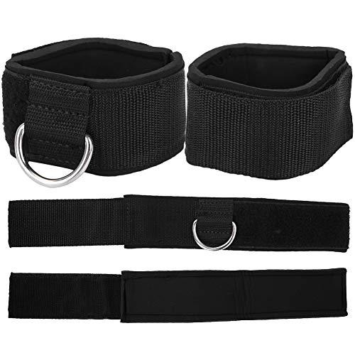 Qiilu 1 paar fitness enkelbanden D-ring enkelboeien voor training in de sportschool