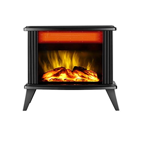 Daily Accessories Fireplace Electric 2000W Built In Fan Heater Dimmer Function 3D Flame Effect Powerful and Quiet Operation 20 30㎡ (Color : Multi colored)