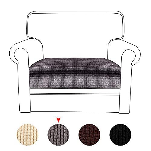 HJYSQX Fundas de cojín elásticas para sofá de 1/2/3 asientos, reversibles, fundas protectoras de cojín para sofá, fundas protectoras (gris, 1 asiento)