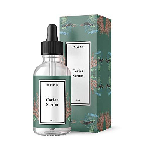Anti-Aging Gesichtsserum mit Kaviar Extrakt 30 ml, verbessert den Zellstoffwechsel der Haut, hautverjüngend, antibakteriell gegen Hautunreinheiten